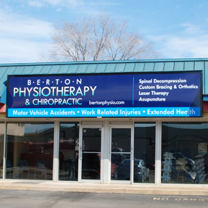 Street View of Berton Physiotherapy and Chiropractic Clinic in Windsor Ontario