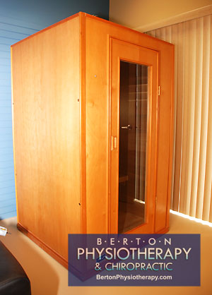 Infrared Sauna in Windsor, Ontario at Berton Physiotherapy