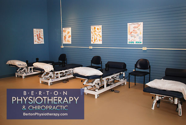 Massage Therapy Tables at Berton Physiotherapy in Windsor